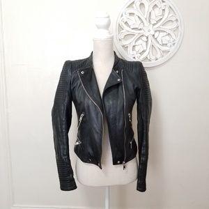 Zara size S sheep leather moto jacket